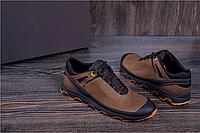 Кроссовки кожаные мужские в стиле Natural Motion olive, фото 1