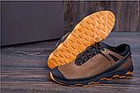 Кроссовки кожаные мужские в стиле Natural Motion olive, фото 2