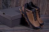 Кроссовки кожаные мужские в стиле Natural Motion olive, фото 3