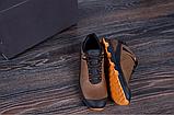 Кроссовки кожаные мужские в стиле Natural Motion olive, фото 4