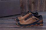 Кроссовки кожаные мужские в стиле Natural Motion olive, фото 5