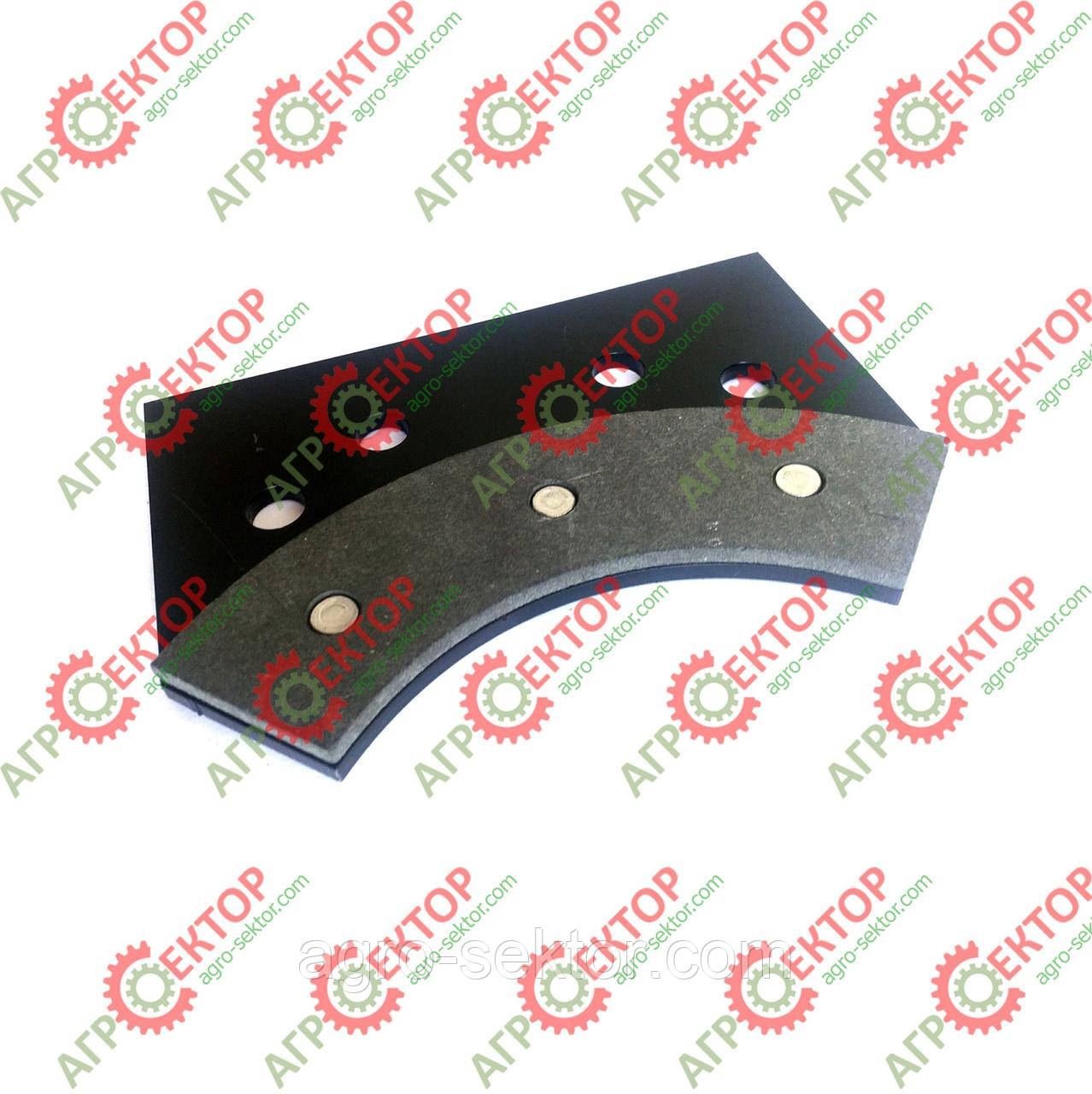 Тормозна колодка внутрішня дискового тормоза в'язального апарата на пресспідбирач Sipma 2012-070-550.00 аналог