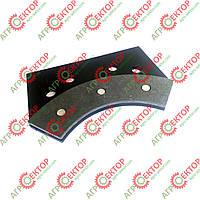 Тормозна колодка внутрішня дискового тормоза в'язального апарата на пресспідбирач Sipma 2012-070-550.00 аналог, фото 1