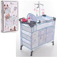 Кровать - манеж - шкаф - стульчик для кормления куклы (Baby Born) TM DeCuevas арт. 53029