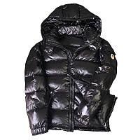Пуховий мужской черный зимний стеганый матовый металлик, размеры , опт, фото 1