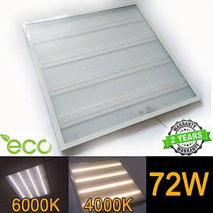 LED панель НАКЛАДНАЯ И ВСТРАИВАЕМАЯ 600х600мм ПРИЗМА 72Вт 4000-4500K/6000-6500К серия ECO (упаковка 4 шт)