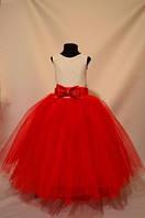 Нарядное бальное детское платье Лилия на 4-9 лет
