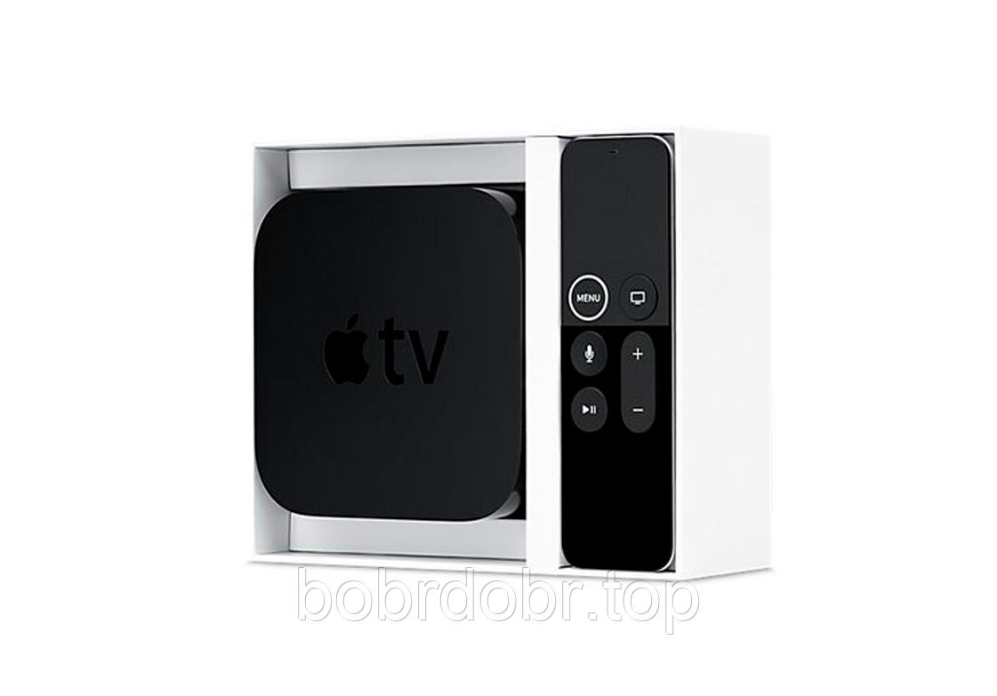 Apple TV 4K 64GB (MP7P2), Смарт ТВ - Медиаплеер, с голосовым управлением (Самая последняя модель)