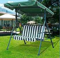 Качеля садовая Bonro 2-х местная зелено-белая (80000007)