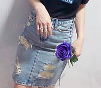 Юбка джинсовая женская карандаш с потертоятями Diar р-р 42, 44