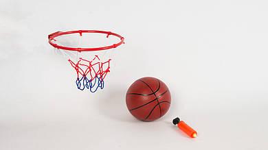 Баскетбольное кольцо M3371 металлическое. В комплекте мяч и насос
