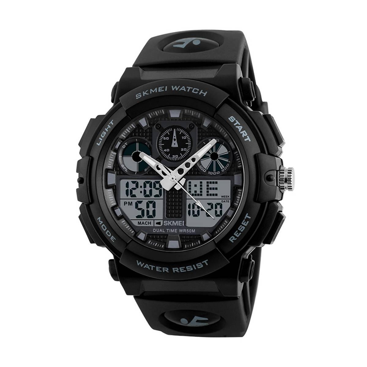 Skmei 1270 черные мужские спортивные часы