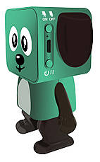 Портативная колонка беспроводная Nomi BT 911 Танцующая собака Зеленый, фото 2
