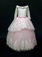 Нарядное бальное детское платье Ева на 4-9 лет
