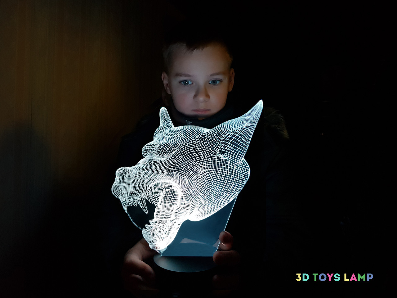 """Детский ночник - светильник """"Волк 3"""""""