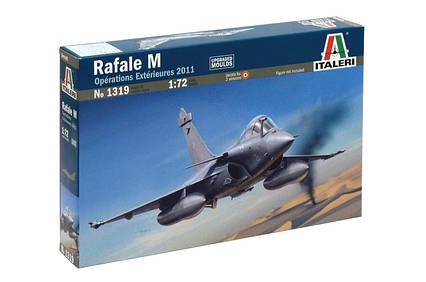 Rafale M Operations Extérieures 2011. Сборная модель самолета. 1/72 ITALERI 1319, фото 2