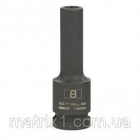 Головка ударная удлиненная шестигранная, 8 мм, 1/2, CrMo Stels