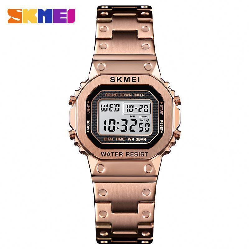 Skmei 1433 SINGAPORE розовое золото оригинальные женские спортивные часы