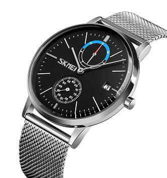 Классические мужские часы Skmei 9182 серебристые