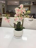 Декор для мебели - ОРХИДЕЯ для интерьера искусственная средня розовая 55-65 см.Декор для дома и офиса