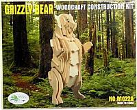 Деревянная 3Д модель медведя (2 пластины)