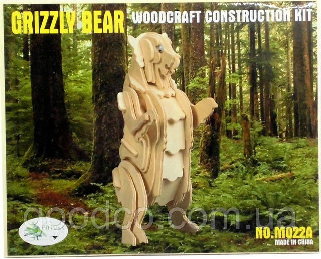 3д модель медведя