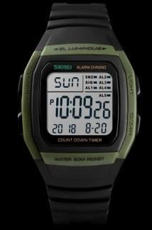 Skmei 1278 зеленые мужские часы