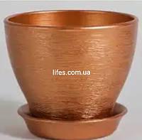 Вазон керамический перламутровая бронза