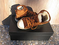 Кеды кожаные женские коричневые замшевые демисезонные 40