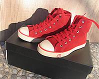 Кеды кожаные женские красные  замшевые демисезонные 36
