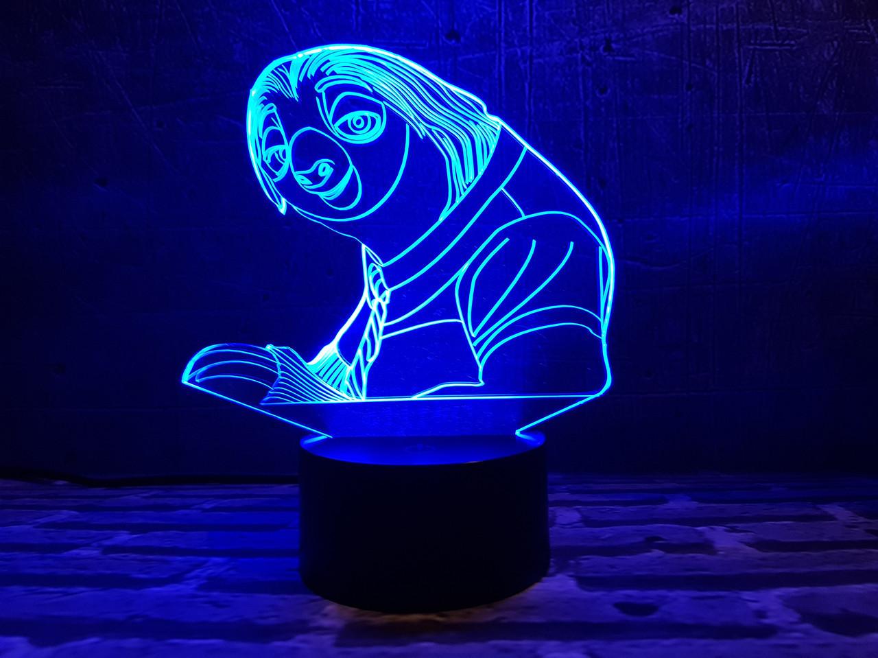 """Детский ночник - светильник """"Ленивец"""""""