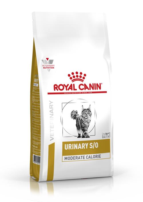 Корм при мочекаменной болезни котов Royal Canin Urinary S/O Moderate Calorie,1,5кг