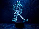 """Детский ночник - светильник """"Хоккеист"""" , фото 2"""