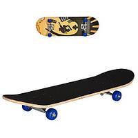 Скейт деревянный (Светофор синие колеса) арт. 0322-2