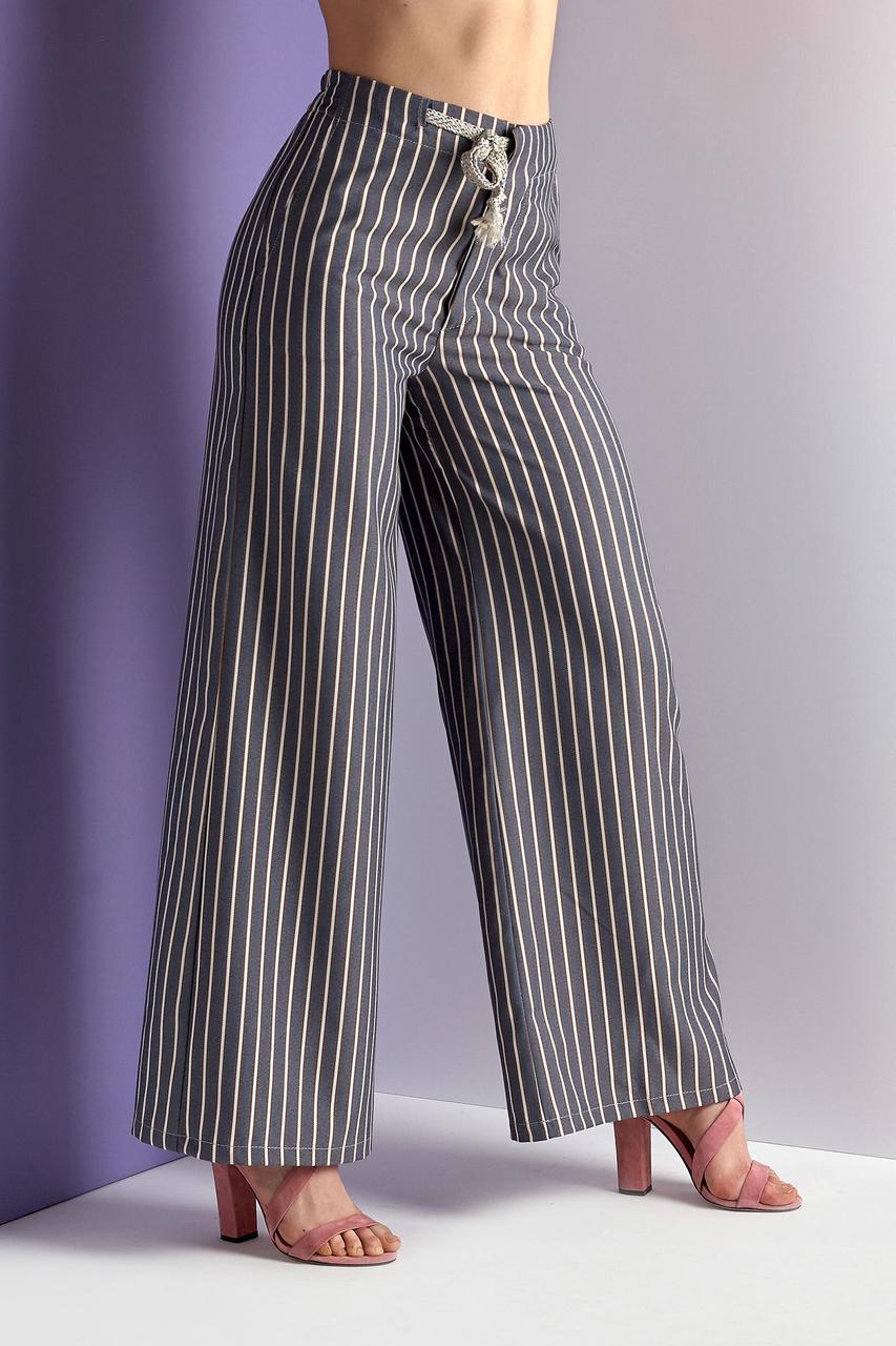 Летние брюки-кюлот в полоску (Код BR-424)