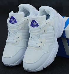 Женские кроссовки Adidas Yung 96 white. Живое фото (Топ реплика ААА+)