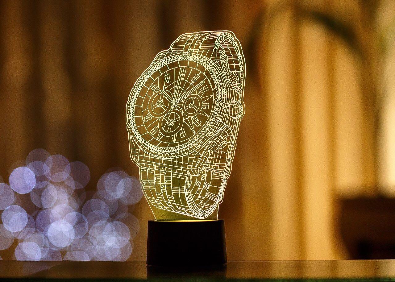 """3D светильник """"Часы"""""""