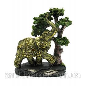Слон под деревом (21,5х18х8,5 см)