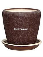 Вазон керамический шоколадный шелк 1.2л