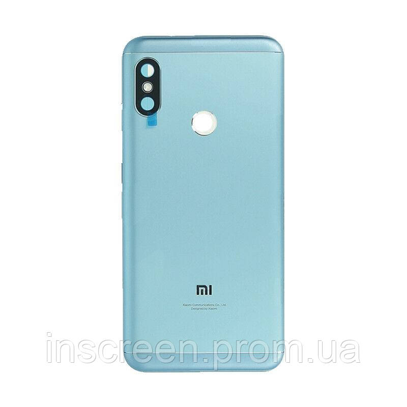 Задня кришка Xiaomi Mi A2 Lite, Redmi 6 Pro синя, фото 2