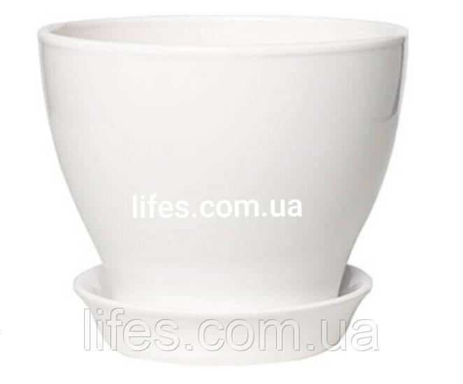 Вазон керамический белый