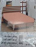 Простыня на резинке трикотажная евроразмер, фото 7