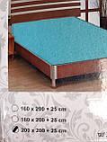 Простыня на резинке трикотажная евроразмер, фото 10