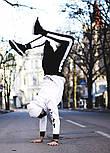 Мужской спортивный костюм зимний Билли с капюшоном теплый на флисе белый с черным. Живое фото, фото 4