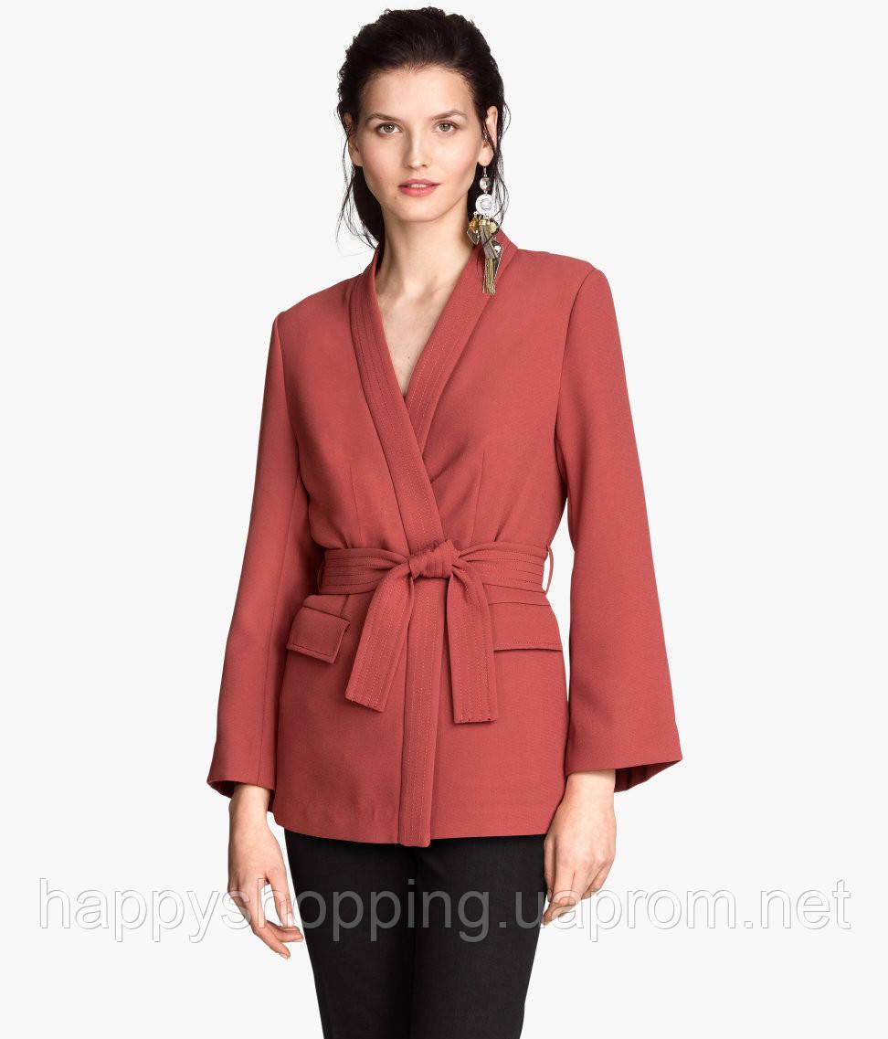 Бордовый пиджак H&M
