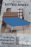 Простыня на резинке трикотажная односпальная, фото 3