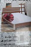 Простыня на резинке трикотажная односпальная, фото 6