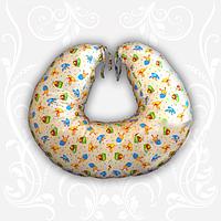 Подушка для кормления, 100% хлопок, наполнитель шарики холлофайбер