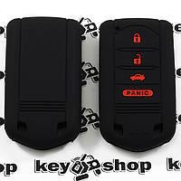 Чехол (черный, силиконовый) для смарт ключа Acura (Акура)