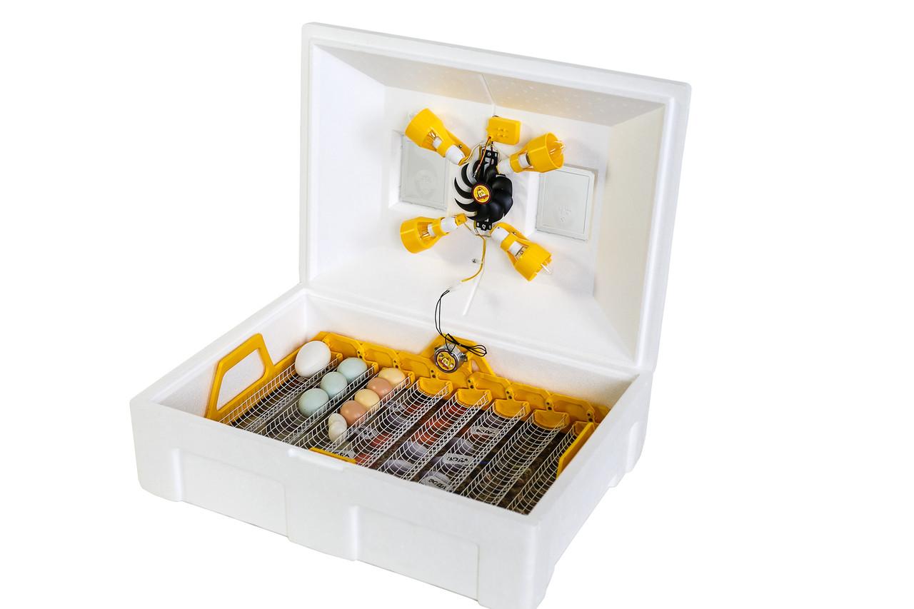 Инкубатор Теплуша Люкс-72 автоматический с влагомером для всех видов яиц